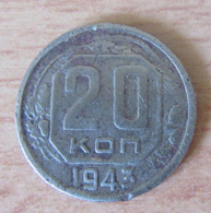 Russie / URSS / CCCP - Monnaie 20 Kopecks 1943 - Russland