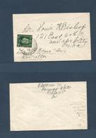 "MARRUECOS - British. 1938 (10 Dec) Tangier - USA, NYC. 1/2d Ovptd Pm Rate Unsealed Envelope. Endorsed ""via Gibraltar US - Marokko (1956-...)"