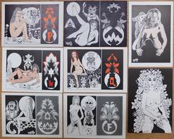Très Beau Lot De 8 CPM - Illustrateur Bernard LE JOLLY - Tirage Limité - Borse E Saloni Del Collezionismo