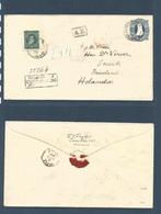 ARGENTINA. 1892 (Nov) Rosario - Netherlands, Sneek, Triesland (4 Dec) Registered AR 24 Cts Blue Stationary Envelope + 50 - Unclassified
