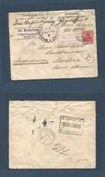 Belgium - XX. 1915 (25 June) German WWI Occupation. Stratsspoorwegen - Argentina, Mendoza (17 Aug) Germania Fkd Env + Ce - Belgium