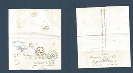 CHILE. 1864 (Nov 16) Valp - USA, NYC (Dec 15) EL Full Text Via BPO + Panama (Dec 5) On Front + Mns Charge British 1sh + - Chile