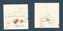 "CHILE. 1866 (Oct 16) Valp - USA, NYC (20 Nov) El Full Text Camed Via BPO (Oct 17) + Panama BPO (Nov 3) + Red ""PAID TO PA - Chile"