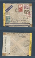 MARRUECOS - French. 1944 (15 Jan) Alger - Chile, Minas De Naltagua, El Monte (3 June) Air Multifkd Envelope. French Moro - Marokko (1956-...)