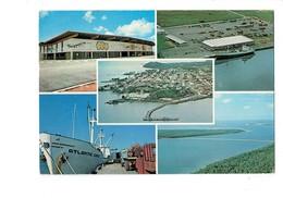 Cpm - GUYANE FRANCAISE Cayenne Port Degrad Des Cannes Chargement De Grumes Larivot Aérogare Bateaui ATLANTIC COMET Bois - Cayenne