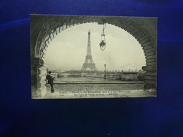 PARIS CHEMIN DE FER METROPOLITAIN LIGNE 2 SUD ETOILE ITALIE UNE VOUTE DU VIADUC DE PASSY 1910 BON ETAT - Metropolitana, Stazioni