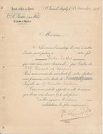 Facture ST JEAN D'ANGELY 17 - Vve L. Veau, Eaux De Vie En Gros, Ile De Ré, 1909 - France