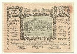 1920 - Austria - Durnstein Notgeld N100 - Austria