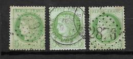 France Type Céres De 1872 N°53  3 Exemplaires Oblitérés, Cote 30€ - 1871-1875 Cérès