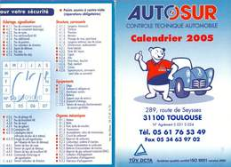 Calendrier °° 2005 - Artisan Auto 31 - Autosur - 7x10 - Calendriers