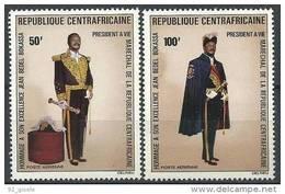"Centrafrique Aerien YT 132 & 133 (PA) "" Pdt Bokassa "" 1975 Neuf** - Central African Republic"