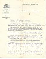 Lettre 1939 / 21 Mairie De MEURSAULT / Incivilité De M. Mongouachon Garagiste / Tampon - France