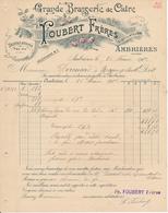 Facture AMBRIERES, Mayenne - Grande Brasserie De Cidre Foubert Frères, 1912 - France