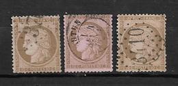 France Type Céres De 1872 N°58  Oblitéré Par 3, Cote 54€ - 1871-1875 Ceres
