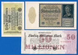 Allemagne     9  Billets - [ 3] 1918-1933 : République De Weimar