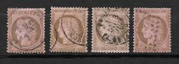 France Type Céres De 1872 N°54  Oblitéré Par 4, Cote 60€ - 1871-1875 Ceres
