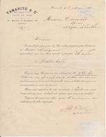 Facture LE HAVRE, 76 - Tamarité & Cie, Cafés En Gros, 1891 - Feuillet Double + Traite - France