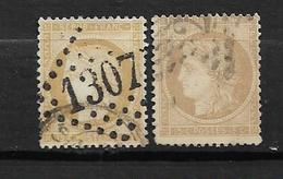 France Type Céres De 1872 N°59  Oblitéré Par 2, - 1871-1875 Ceres