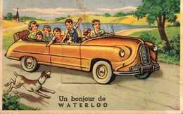 WATERLOO -  Famille Dans Leur Voiture - A Systèmes