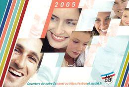Calendrier °° 2005 - Mutuelle Civile De La Défense - 8x12 - Calendriers