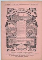 1905 TOURING CLUB DE BELGIQUE VIEUX CABARETS: VLISSINGHE BRUGES PROMENADES PEDESTRES EN BRABANT: BOUSVAL THY MOULIN CAST - Libri, Riviste, Fumetti