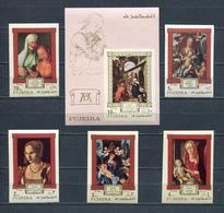 Fujeira  1971 Mi # 662 B - 666 B + BLOCK 50 B RELIGION PAINTING Albrecht Dürer MNH - Fujeira