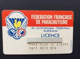 FEDERATION FRANÇAISE DE PARACHUTISME  Licence  PARA CLUB DE DIEPPE - Paracaidismo
