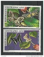 """Centrafrique Aerien YT 148 & 149 (PA) """" Papillons """" 1976 Neuf** - Centrafricaine (République)"""