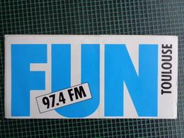 AUTOCOLLANT FUN 97,4 TOULOUSE - Stickers