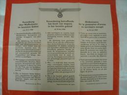 Ordonnance Allemande 1940 ( Concerne Possession D'armes) - 1939-45