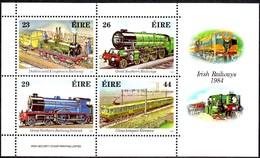 Ierland Irlande Ireland 1984 Yvertnr. Bloc 5 *** MNH Cote 10.00 Euro Chemin De Fer Trains Treinen - Blocs-feuillets