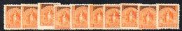APR1550 - NICARAGUA 1892 , SERVIZIO Serie Yvert N. 21/30 Nuova  * (2380A) Linguelle Forti - Nicaragua