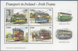 Ierland Irlande Ireland 1987 Yvertnr. Bloc 6 *** MNH Cote 10.00 Euro Tramways - Blocs-feuillets