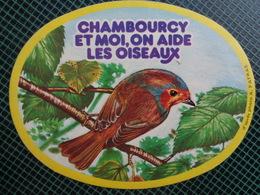 AUTOCOLLANT CHAMBOURCY ET MOI, ON AIDE LES OISEAUX - Autocollants