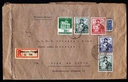 A6226) Bizone Schwerer R-Brief Geislingen 22.04.49 N. Bonn - Bizone