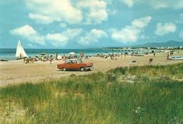 "4442 ""CAMPING RADA ETRUSCA-VADA-LIVORNO""ANIMATA-OPEL REKORD P1(1957-1960)-CART. POST.ORIG.SPED 1973 - Livorno"