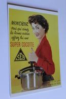 Publicite Reproduction D Affiche SEB Super Cocotte  Edit CLOUET 101003 SEB Monsieur Vous Qui Aimez 1954  CPM - Publicité