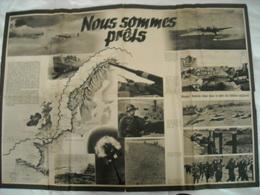 """Affiche Authentique Allemande 1942 """" Nous Sommes Prêts """" - 1939-45"""