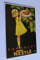 Publicite Reproduction D Affiche  10526 Chocolat Nestle   CPM Edit CLOUET - Publicité