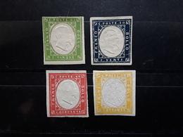 SARDEGNA Sardaigne  Anciens Etats Italiens, Italia, 1855, Yvert No 10,12, 13 , 14  Neufs (*) MNG TB Cote 100 Euros - Sardinia
