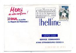 Lettre Flamme Manosque Nuit De La Correspondance - Marcophilie (Lettres)