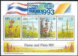 Ierland Irlande Ireland 1993 Yvertnr. Bloc 14 *** MNH Cote 17,50 Euro Flore Surcharge Bangkok - Blocs-feuillets