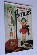 Publicite Reproduction D Affiche  10412 Chocolat Des Antilles   CPM Edit CLOUET - Publicité