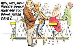 Comics Humor Comic Comique Humour - Sexy Ladies At The Bar - 2 Scans - Humour