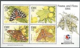 Ierland Irlande Ireland 1994 Yvertnr. Bloc 17 *** MNH Cote 8,00 Euro Faune Papillons Vlinders Surcharge Philakorea - Blocs-feuillets