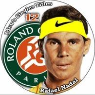 Pin Rafael Nadal Roland Garros 12 Men's Singles Titles - Tenis