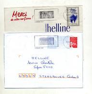 Lettre + Pap Liberte  Flamme  Mende Ville Theme Soleil - Marcophilie (Lettres)