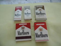 Lot De 5 Boites D'allumettes -Malboro - Cajas De Cerillas (fósforos)