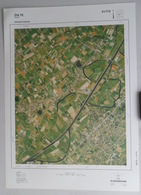 GROTE LUCHT-FOTO ZULTE OESELGEM OLSENE DROGENBROOD-HOEK In 1990 48x67cm ORTHOFOTOPLAN TOPOGRAPHIE PHOTO AERIENNE R709 - Zulte