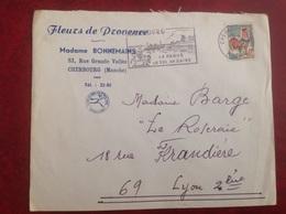 Cherbourg Fleurs De Provence Bonnemains - Marcophilie (Lettres)